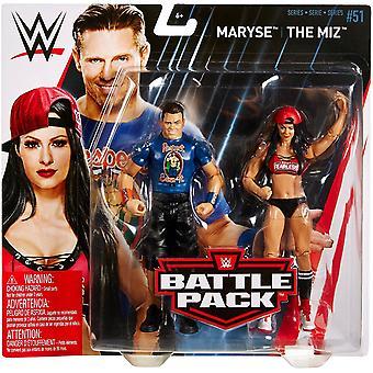 Wwe Battle Pack 2 Figures -the Miz & Maryse
