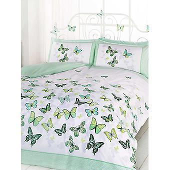 Butterfly Flutter Duvet Cover and Pillowcase Set