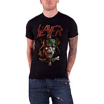 Slayer T Shirt  Soldier Cross Zombie  Skull band Logo Official Mens Black