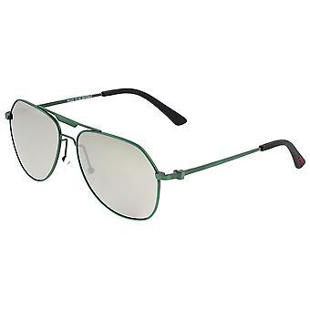 Breed Mount Titanium polarizada óculos de sol-verde/prata