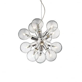 Ideal Lux Dea 12 Bulb Pendant Light Chrome