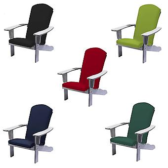 Trueshopping Bjørn Adirondack Polywood Chair in Grey with Cushion