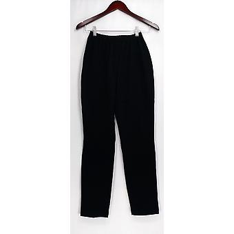 Women with Control Pants XXS Elastic Waistband Pull-on Black A301383