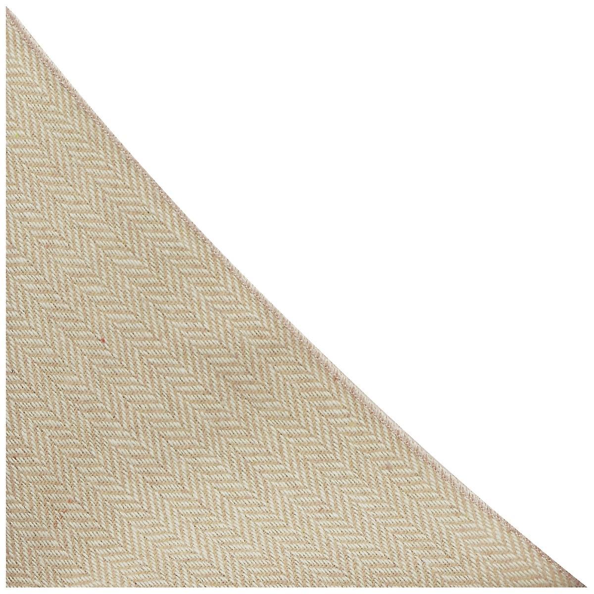 Gold & Cream Herringbone Pocket Square, Handkerchief