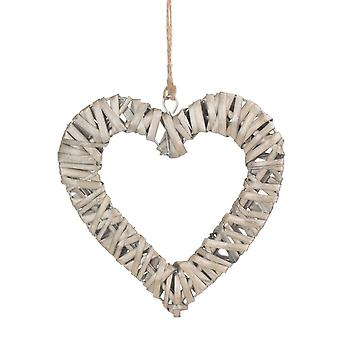 Small Flat Open Wicker Heart