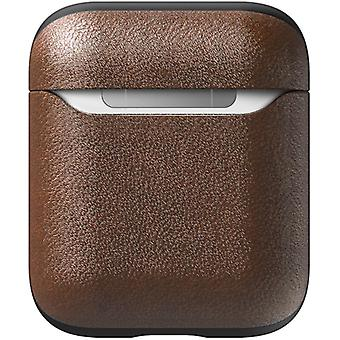 Airpods (1 and 2) Cover Case Genuine leather Wireless Charging- Nomad, Brown