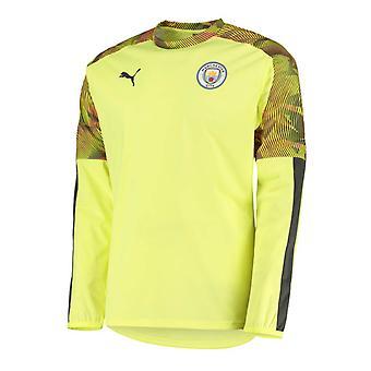 2019-2020 Manchester City Puma Rain Top (Jaune)