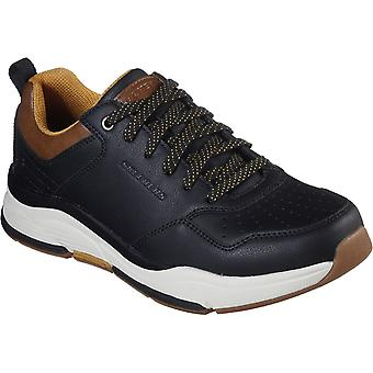 Skechers Mens Benago Treno Low Profile Lace Up Leather Shoes