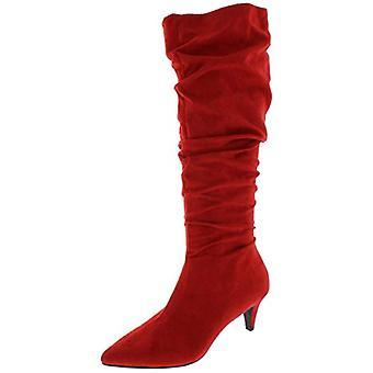 شريط الثالث النساء الديها فو سويد Slouchy منتصف العجل الأحذية