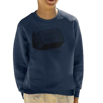 Krazy Kat Ignatz Mouse Brick Logo Kid's Sweatshirt