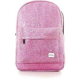 Spiral Glitz mesh ryggsäck väska rosa 13