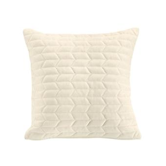 Heine home - quilted pillow cover ornamental pillow couch pillow cover offwhite 50x50 cm