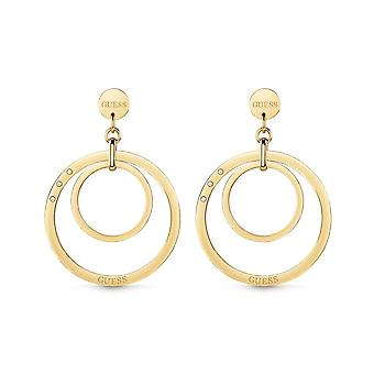 Guess Jewellery Hoops Circles Gold Earrings UBE29023