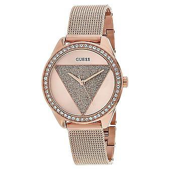 Guess Women's Tri Glitz Rose gold Dial Watch - W1142L4
