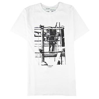 Off-White Off Bianco C/o Virgil Abloh Scaffolding-stampa T-shirt Bianco 0110