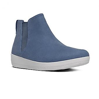 FitFlop Superchelsea™ Ladies Canvas Chelsea Boots Midnight Navy