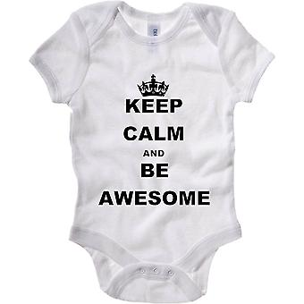 Body neonato bianco wtc0024 keep calm and be awesome