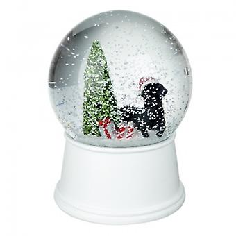 Heaven Sends Black Labrador and Tree Snowglobe