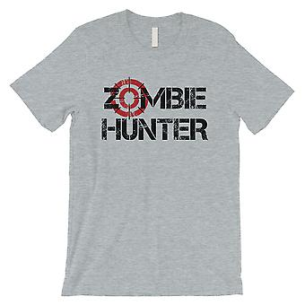 Zombie Hunter Mens Grey Energético Wonderful Cool Halloween T-Shirt