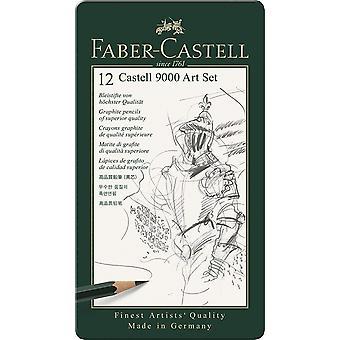 फेबर-कास्टेल 12 कास्टेल 9000 आर्ट सेट पेंसिल टिन
