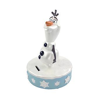 Disney Frozen II money box Olaf white, 100% earthenware, in gift box.