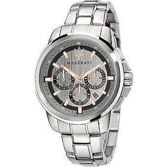 Maserati R8873621004 Men's Successo Chronograph Silver Tone Dial Wristwatch