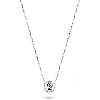 Blush 30529WZI necklace - White gold 42cm/ zirconium oxide 4/8 mm enclosed women