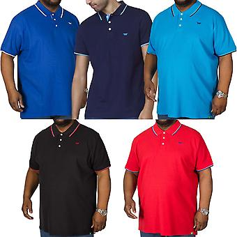 Duke D555 mens track grote Tall King size korte mouw casual getipt Polo shirt