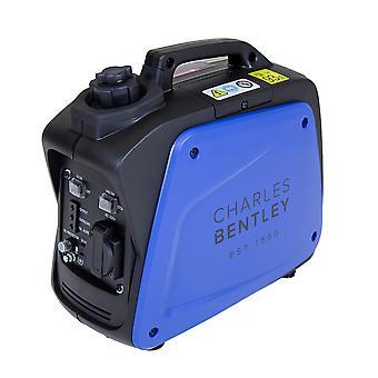 Charles Bentley 700W Blue Portable Inverter Generator H395 x L209cm 4hr Tiempo de operación