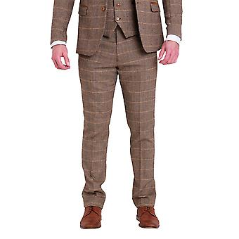 Marc Darcy Ted Tan Tweed Broeken