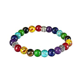 Chakra bracelet with colored beads