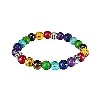 Chakra rannekoru värillinen helmiä