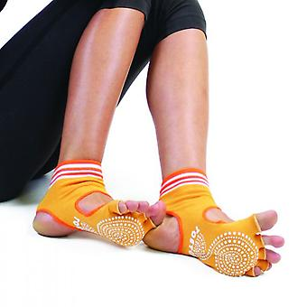 TOETOE Yoga & Pilates Anti-Slip Sole Unisex Anklet Open Toe & Heel Toe Socks