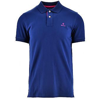 GANT GANT Marine Kontrast Polo-Shirt