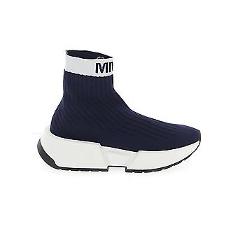 Mm6 Maison Margiela S59ws0093p3120h7960 Femmes-apos;s Blue Fabric Hi Top Sneakers
