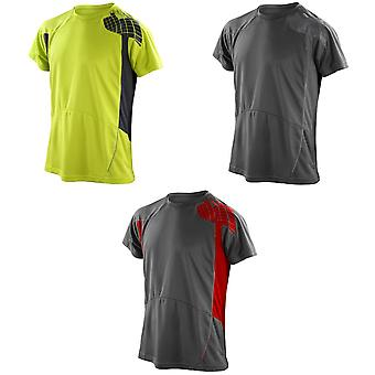 Spiro Mens Performance Sports Lightweight Athletic Training T-Shirt