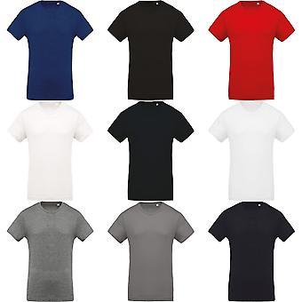 T-shirt gola orgânico de Kariban Mens