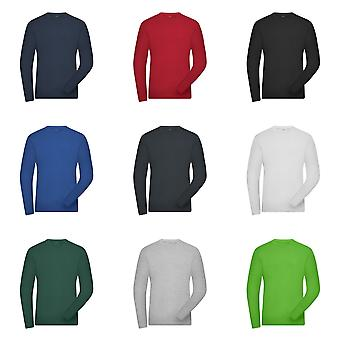 James and Nicholson Mens Organic Cotton Long Sleeve Sweater