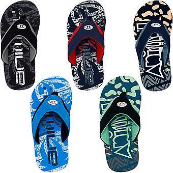 Animal Boys Kids Jekyl Logo Summer Slip On Beach Holiday Flip Flops Sandals
