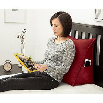Passende Schlafzimmer Wein weiche Wolle fühlen Bean Bag Bett Keil zurück Unterstützung Kissen