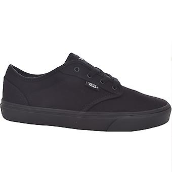 Vans Juniors Kids Atwood Casual Low Top Canvas Trainers Tênis Sapatos - Preto