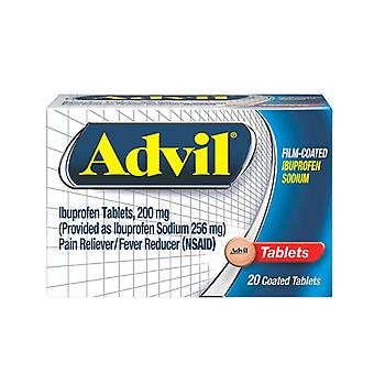 Advil ibuprofen pain reliever/fever reducer, 200 mg, tablets, 20 ea