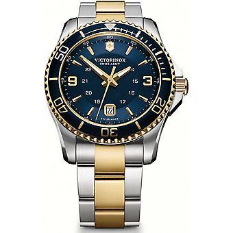 Victorinox Watch 241789-Maverick dois tons de prata e/dor e aço inoxidável/mostrador azul