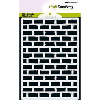 CraftEmotions MM Mix الاستنسل تصميم الجدار الحجري A6
