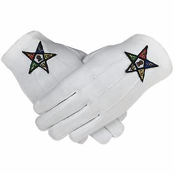 Masonic oes order of the eastern star 100% cotton glove