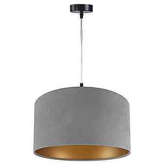 Luminaire suspendu daim Jalua P gris & or Ø 40 cm 10624