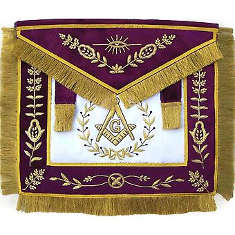 Frimurer grand lodge mester mason forkle bullion hånd brodert
