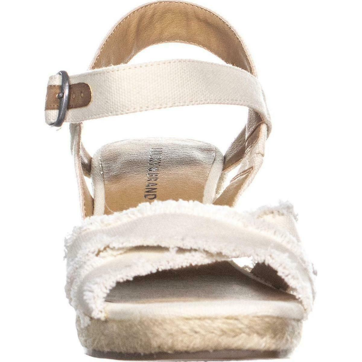 Lucky Brand Womens Maraline Fabric Open Toe Casual Platform Sandals