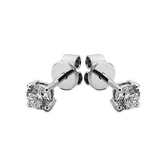 Orecchini perno diamante orecchini borchie - 14K 585 / - oro bianco - 0.15 ct. - 2B428W4-1