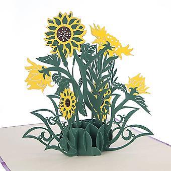Cardology Sunflowers Pop Up Card